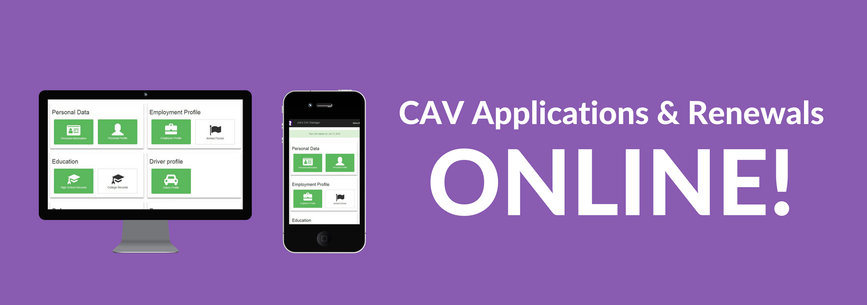 CAV Applications & Renewals