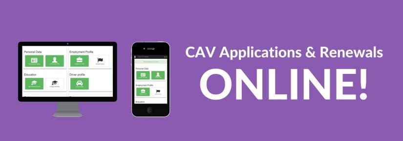 CAV Applications & Renewals