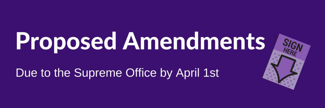Deadline for Amendments