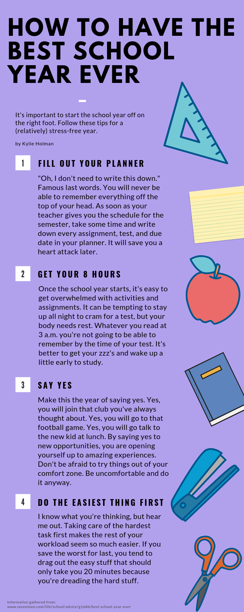 how to have the best school year ever